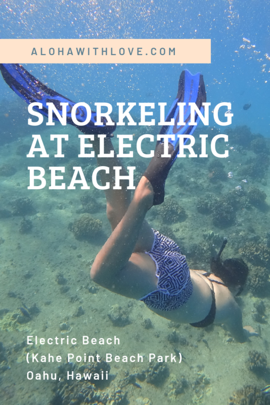 Snorkeling at Electric Beach Kahe Point Beach Park