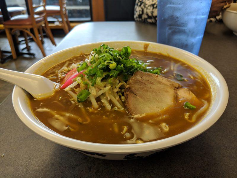 Curry udon at Ezogiku Noodle Cafe