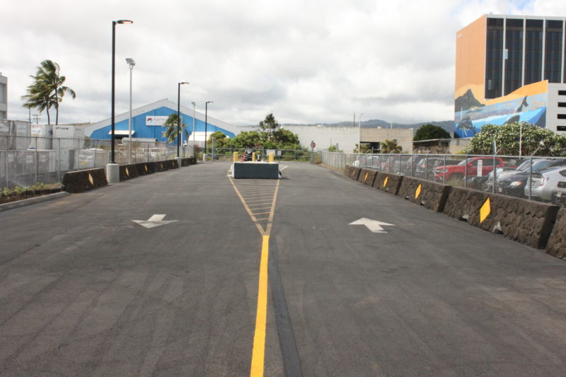 Driving into Terminal 3 for Mokulele Airlines