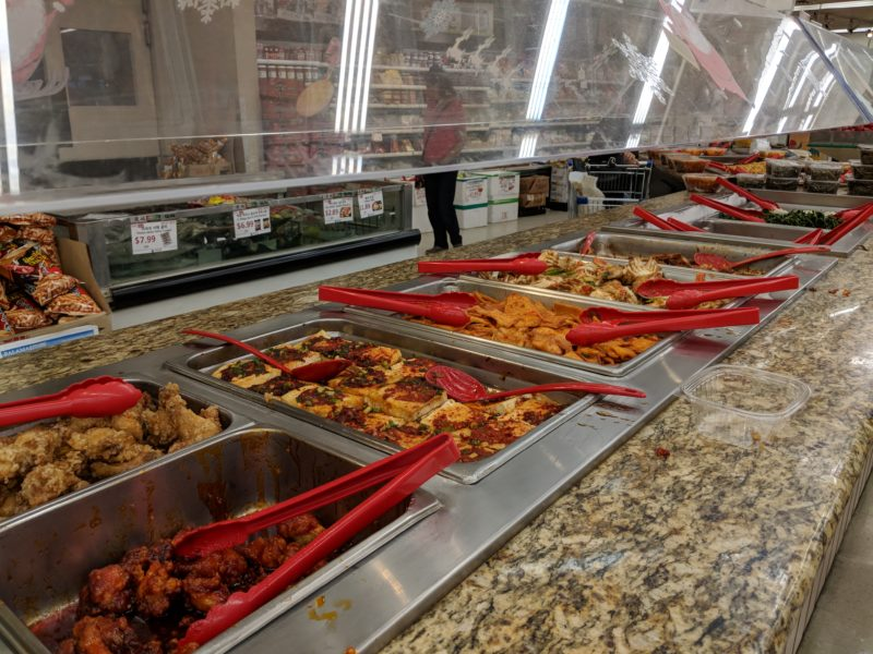 Side dishes at Palama Marketplace.