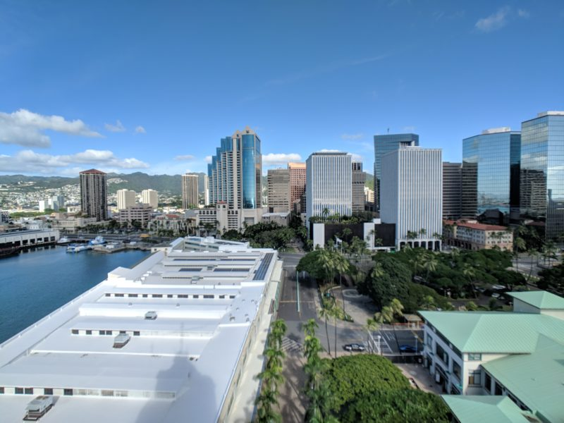 The view from Aloha Tower.