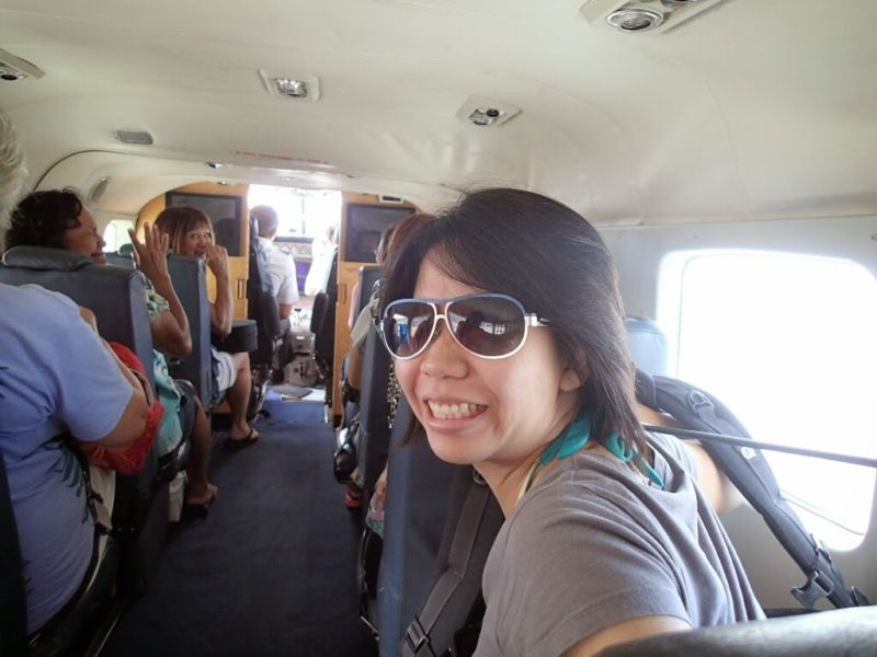 Inside the Mokulele commuter plane.