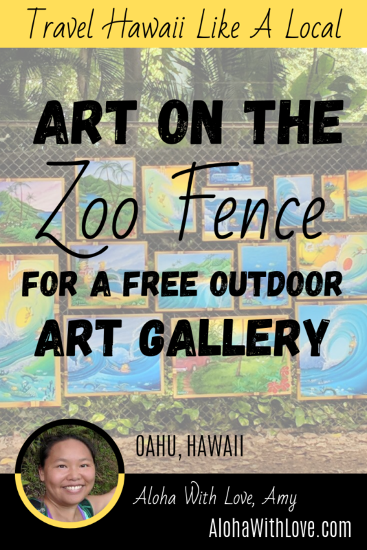 Art On The Zoo Fence For A Free Outdoor Art Gallery