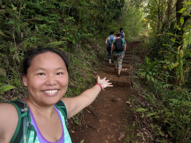Hiking Makiki Valley Loop Trail.