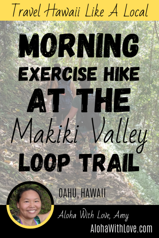 Morning Exercise Hike On The Makiki Valley Loop Trail