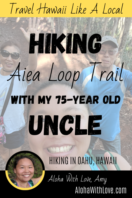 Hiking Aiea Loop Trail in Oahu, Hawaii. It\'s one of my favorite hikes because of the beautiful views and plenty of shade. Travel Hawaii like a local at AlohaWithLove.com.