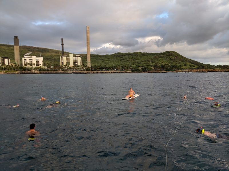Snorkeling in front of Kahe Powerplant.