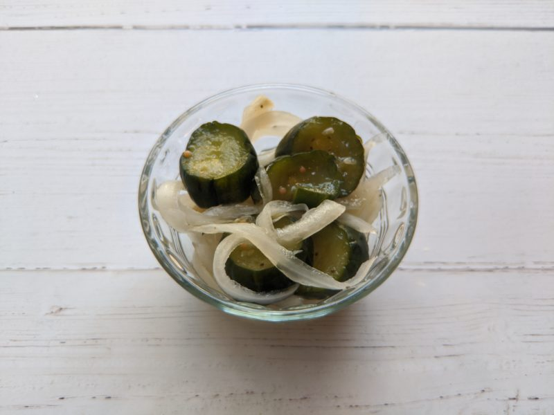 Pickled Cucumbers and Sweet Onions