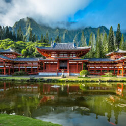 Byodo-In temple in Valley of the Temples on Oahu.