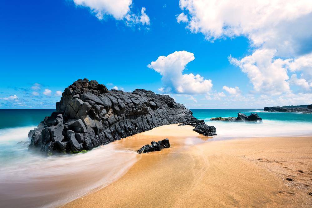 Kauapea Beach on Kauai.
