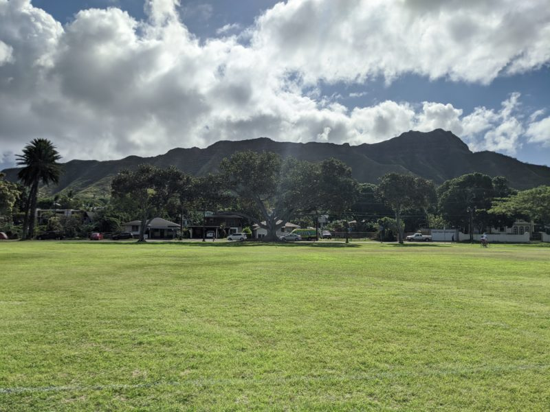 We cut through Kapiolani Park and couldn't help but admire Diamond Head right next door.