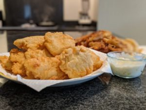 Tempura batter-fried fish