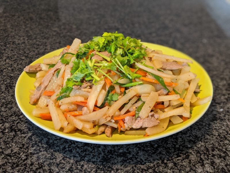 Potato and pork stir fry
