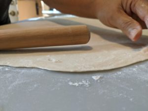 Roll out the dough.