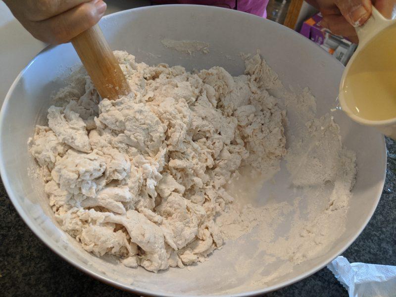 Make a shaggy dough.