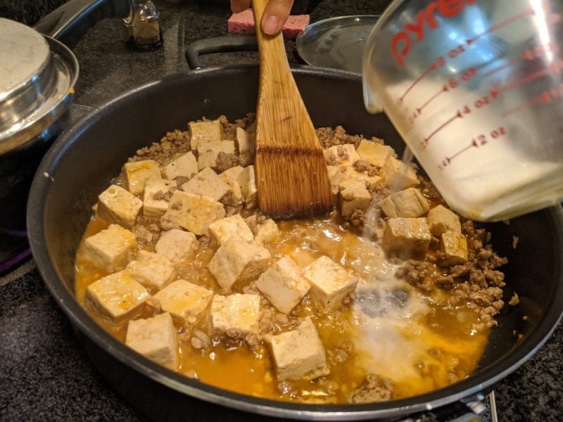 Slowly stir and cook for a few minutes to cook the cornstarch.