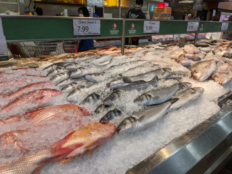 Fresh fish at Seafood City.