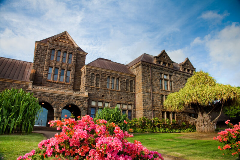 The main building for the Bernice Pauahi Bishop Museum.
