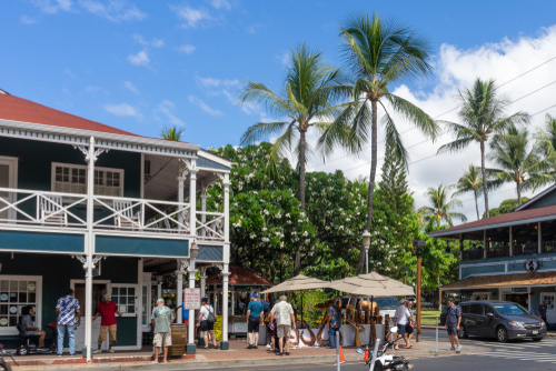 Lahaina, Maui has more of that small town feel to it. Editorial credit: Felipe Sanchez / Shutterstock.com