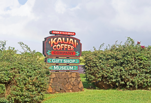 The Kauai Coffee Company has a visitor center complete with coffee tasting, tours, and a souvenir shop. Editorial credit: Charles Lewis / Shutterstock.com