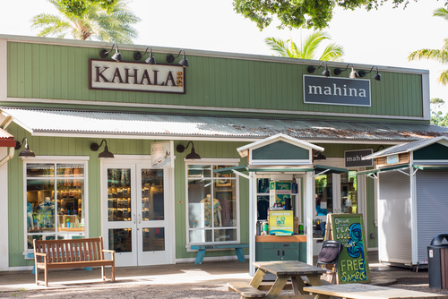 Shopping at the Haleiwa Store Lots in North Shore, Oahu. Editorial credit: Michael Gordon / Shutterstock.com