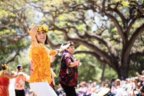 May 1 marks the celebration of Lei Day (May Day) at Kapiolani Park in Waikiki. Editorial credit: Yi-Chen Chiang / Shutterstock.com