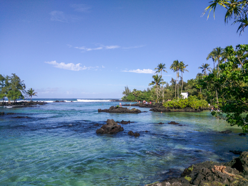 Best beaches in Hawaii: Carlsmith Beach. Hawaii travel. Things to do in Big Island. Things to do in Hawaii.