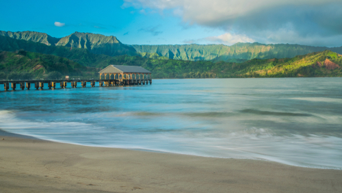An early morning at Hanalei Bay.