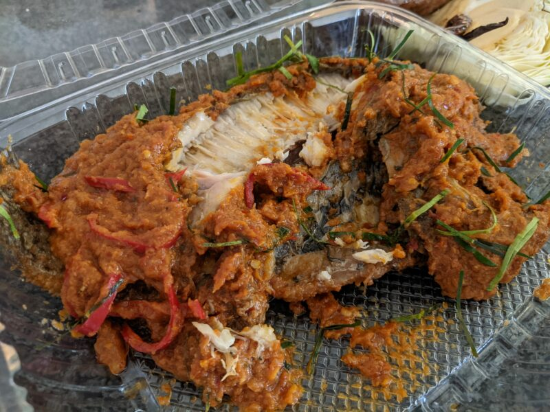 The spicy tilapia was very tasty.