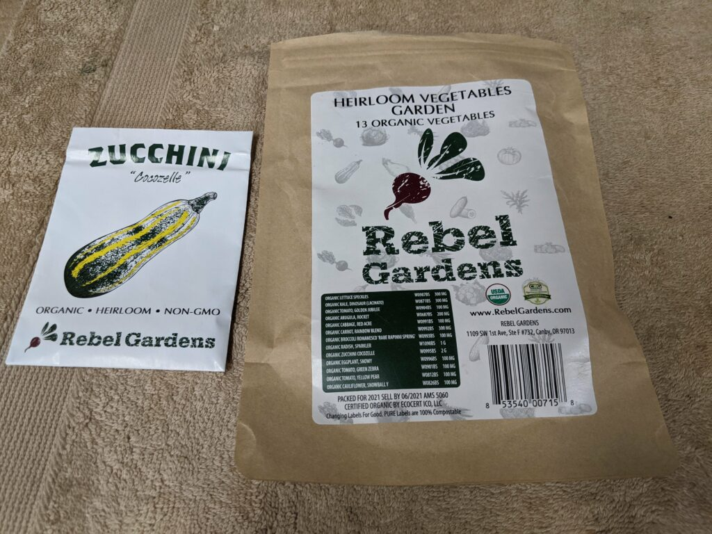 A Christmas present of heirloom vegetable seeds from my brother Michael.
