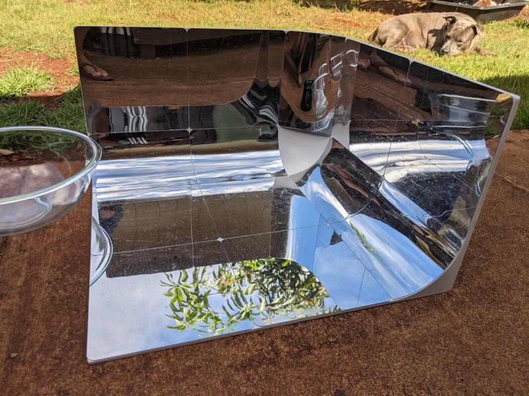 How I Built My Basic Solar Cooker Setup
