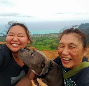 Me, Mom and Daisy made it to the top and the view was a thrill!